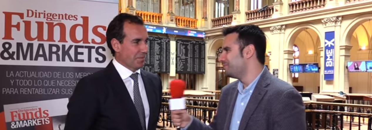 Diego Parrilla habla para Dirigentes (Funds & Markets) desde la Bolsa de Madrid