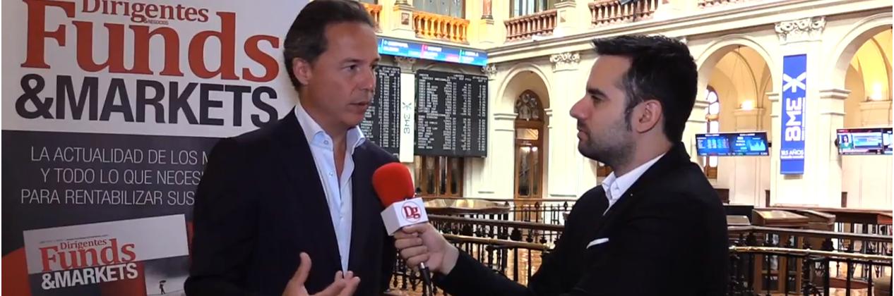 Alfonso Torres entrevistado en la Bolsa de Madrid para Dirigentes TV